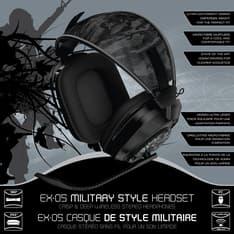 Gioteck EX-05 Wireless Military Style Headset PC / PS3 / Xbox 360 langattomat pelikuulokkeet, kuva 2