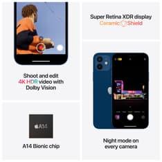 Apple iPhone 12 128 Gt -puhelin, musta, MGJA3, kuva 6