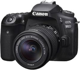 Canon EOS 90D -järjestelmäkamera + 18-55 IS STM + Rode VideoMicro