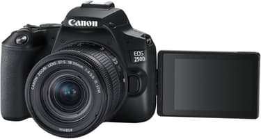Canon EOS 250D -järjestelmäkamera, musta + 18-55 IS STM + Rode VideoMicro