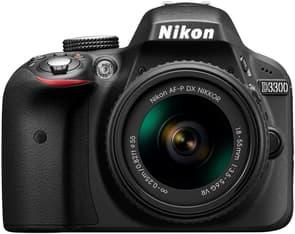 Nikon D3300 KIT musta järjestelmäkamera + AF-P DX NIKKOR 18-55MM F/3.5-5.6G VR