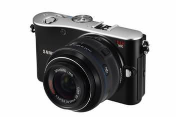 Samsung NX100 järjestelmäkamera + 20-50 mm objektiivi KIT, musta