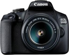 Canon EOS 2000D -järjestelmäkamera + 18-55 mm IS II
