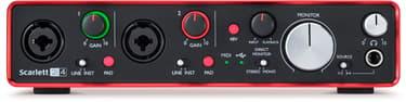 Focusrite Scarlett 2i4 2nd Gen -äänikortti USB-väylään