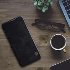 Nillkin Qin Leather Flipcase, Xiaomi Redmi Note 7, musta, kuva 4