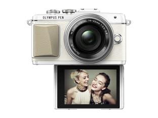 Olympus PEN E-PL7 valkoinen + 14-42 mm EZ objektiivi, kuva 3