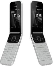 Nokia 2720 Flip -simpukkapuhelin Dual-SIM, hopea, kuva 3