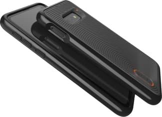 Gear4 D3O Battersea -suojakuori, Samsung Galaxy S10e, musta/oranssi, kuva 4