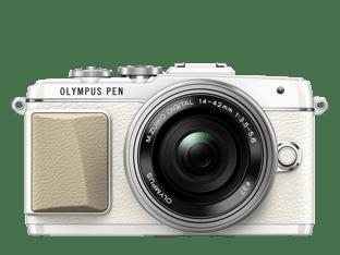 Olympus PEN E-PL7 valkoinen + 14-42 mm EZ objektiivi