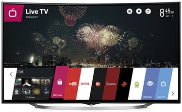 """LG 65UC970V 65"""" Smart 4K Ultra HD Curved 3D LED-televisio, 1000 Hz, webOS, WiFi"""