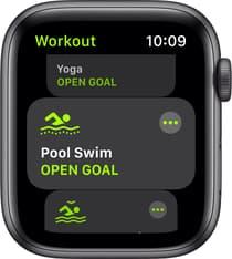 Apple Watch SE (GPS) 44 mm tähtiharmaa alumiinikuori, musta urheiluranneke, MYDT2, kuva 3