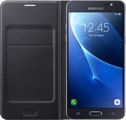 Samsung Galaxy J5 (2016) Flip Wallet -suojakansi, musta