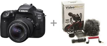 Canon EOS 90D -järjestelmäkamera + 18-55 IS STM + Rode VideoMicro, kuva 2