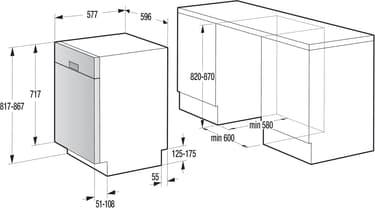 Upo D63CW -astianpesukone, valkoinen, kuva 6