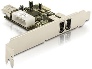 DeLOCK FireWire 2+1 -porttinen ohjainkortti PCIe-väylään