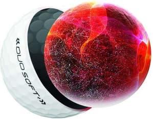 Wilson W/S DUO Soft+ -golfpallo, 12 kpl, valkoinen, kuva 3