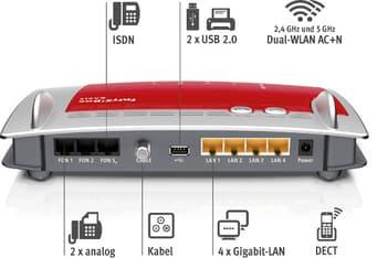 AVM FRITZ!Box 6490 Cable langaton Dual Band -kaapelimodeemi, kuva 2