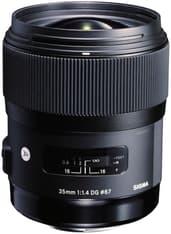 Sigma 35 mm F1.4 DG HSM   A objektiivi, Nikon