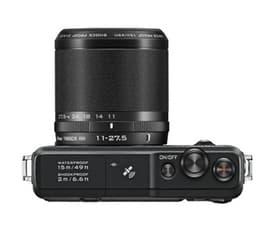 Nikon 1 AW 1 mikrojärjestelmäkamera + AW 11-27,5 mm objektiivi, musta, kuva 2