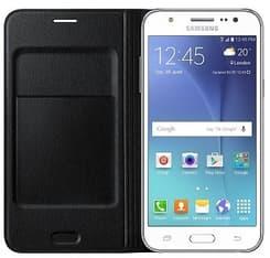 Samsung Galaxy J5 (2015) Flip Wallet -suojakansi, musta, kuva 3