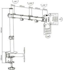 Mozi Basic Stand with Dual Joint -pöytäjalka yhdelle näytölle, kuva 14