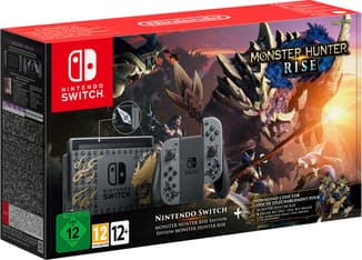 Nintendo Switch Monster Hunter Rise Edition -pelikonsoli, erikoisväritys