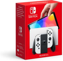 Nintendo Switch OLED -pelikonsoli, valkoinen