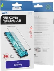 Wave Full Cover -panssarilasi, Samsung Galaxy A51 / A51 5G, musta