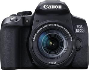 Canon EOS 850D -järjestelmäkamera, musta + 18-55 IS STM