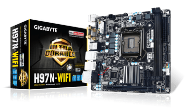 Gigabyte GA-H97N-WIFI Intel H97 LGA 1150 MiniITX-emolevy