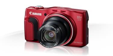 Canon PowerShot SX700 HS digikamera, punainen