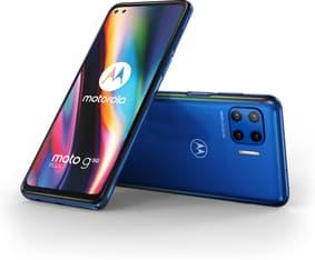 Motorola Moto G 5G Plus -Android-puhelin, 64 Gt, sininen