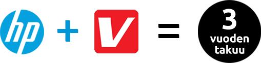 HP + Verkkokauppa.com = Kolmen vuoden takuu