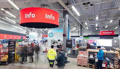 Helsingin myymälän infopiste