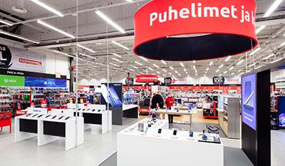 Oulun myymälän puhelin-osasto