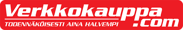 Verkkokauppa.com - todennäköisesti aina halvempi -logo suomeksi