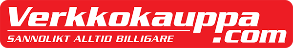 Verkkokauppa.com - sannolikt alltid billigare -logo ruotsiksi