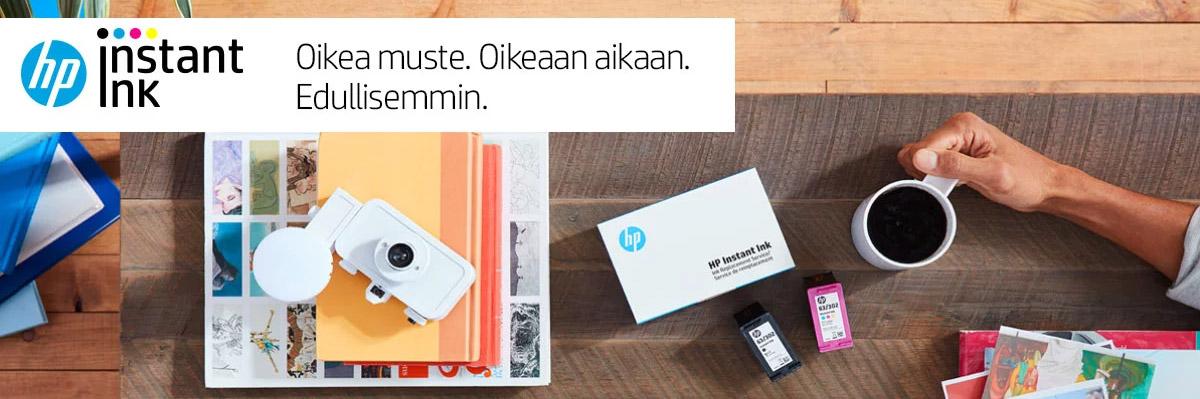 HP Instant Ink. Oikea muste. Oikeaan aikaan. Edullisemmin.