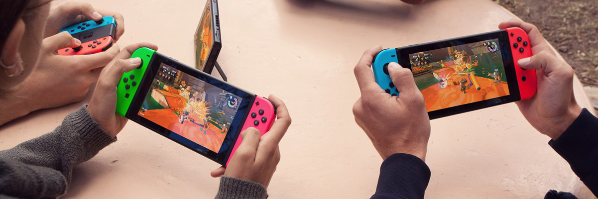 Nintendo Switch -pelikonsolit handheld-moodissa