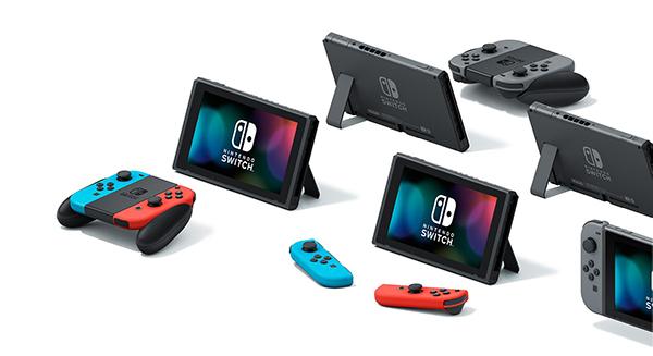 Nintendo Switch -pelikonsolit eri moodeissa