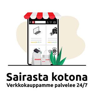 Sairasta kotona - Verkkokauppamme palvelee 24/7