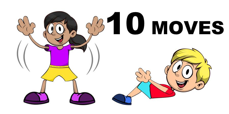 10 Moves - lapset liikkuvat