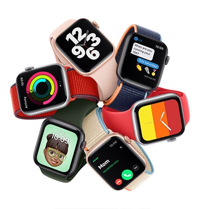 Apple Watch SE -älykelloja eri rannekkeilla