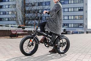 GZR-sähköfatbike kaupungissa