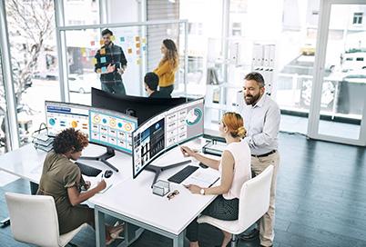 samsung tietokoneen näyttö toimistossa
