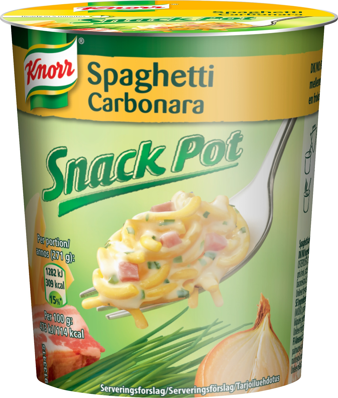 Knorr Snack Pot Carbonara 71 G 8 Pack Valmisruoka Snacksit Ja