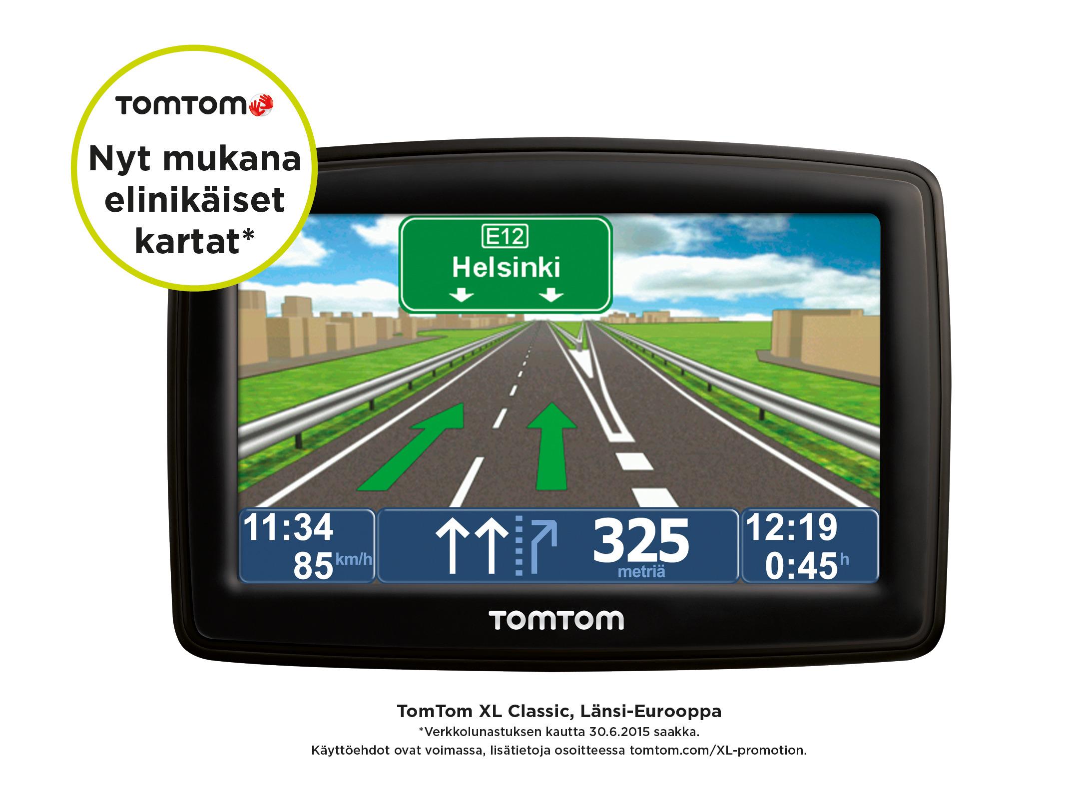 Tuotteen Tomtom Xl Classic 4 3 Western Europe 22 Navigaattori