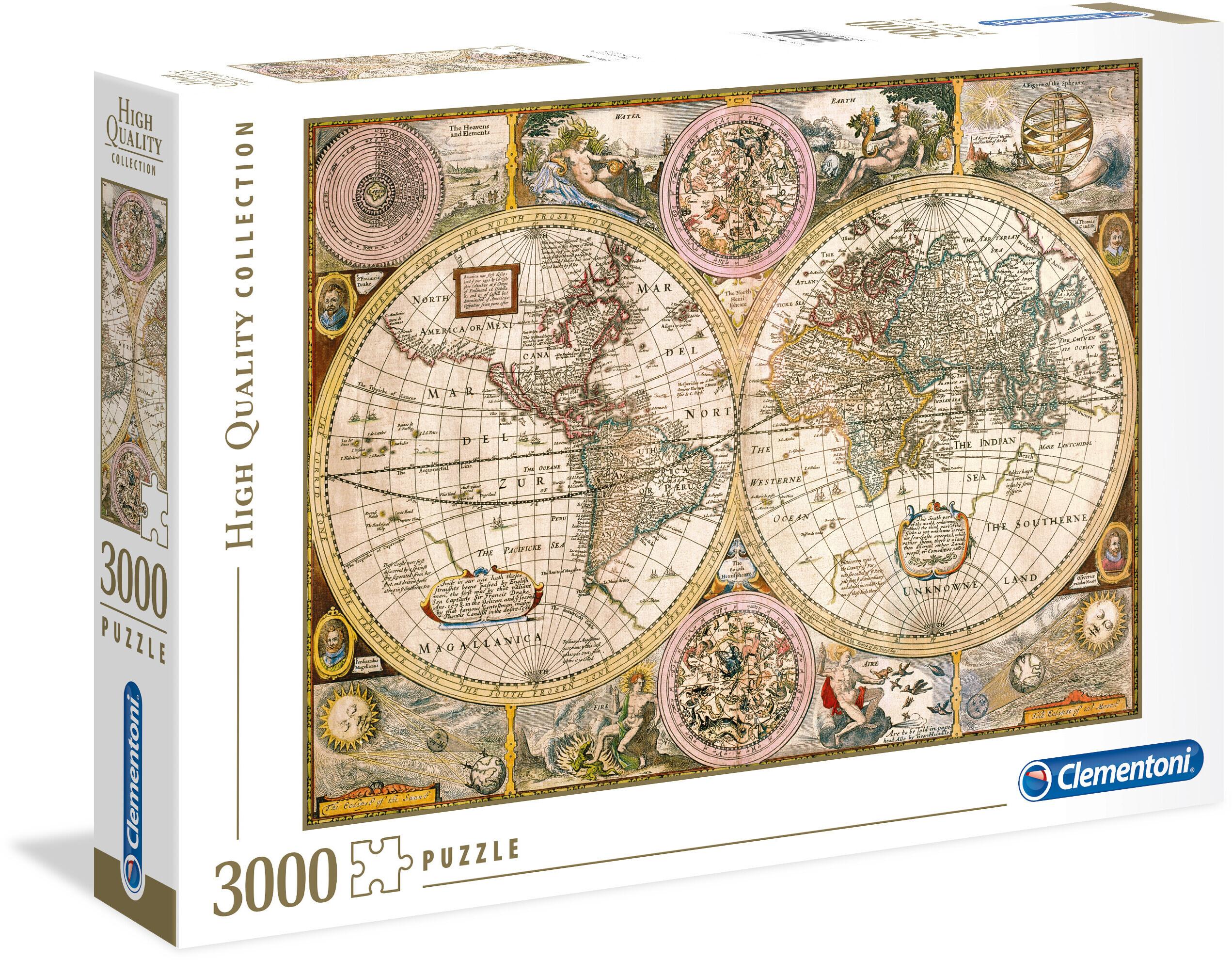 Clementoni Old Map Palapeli 3000 Palaa Palapelit Pelit Ja