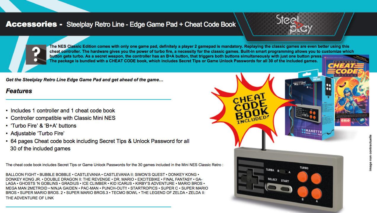 Steelplay Retro Line - Edge Gamepad -peliohjain, NES Classic Mini 18,90