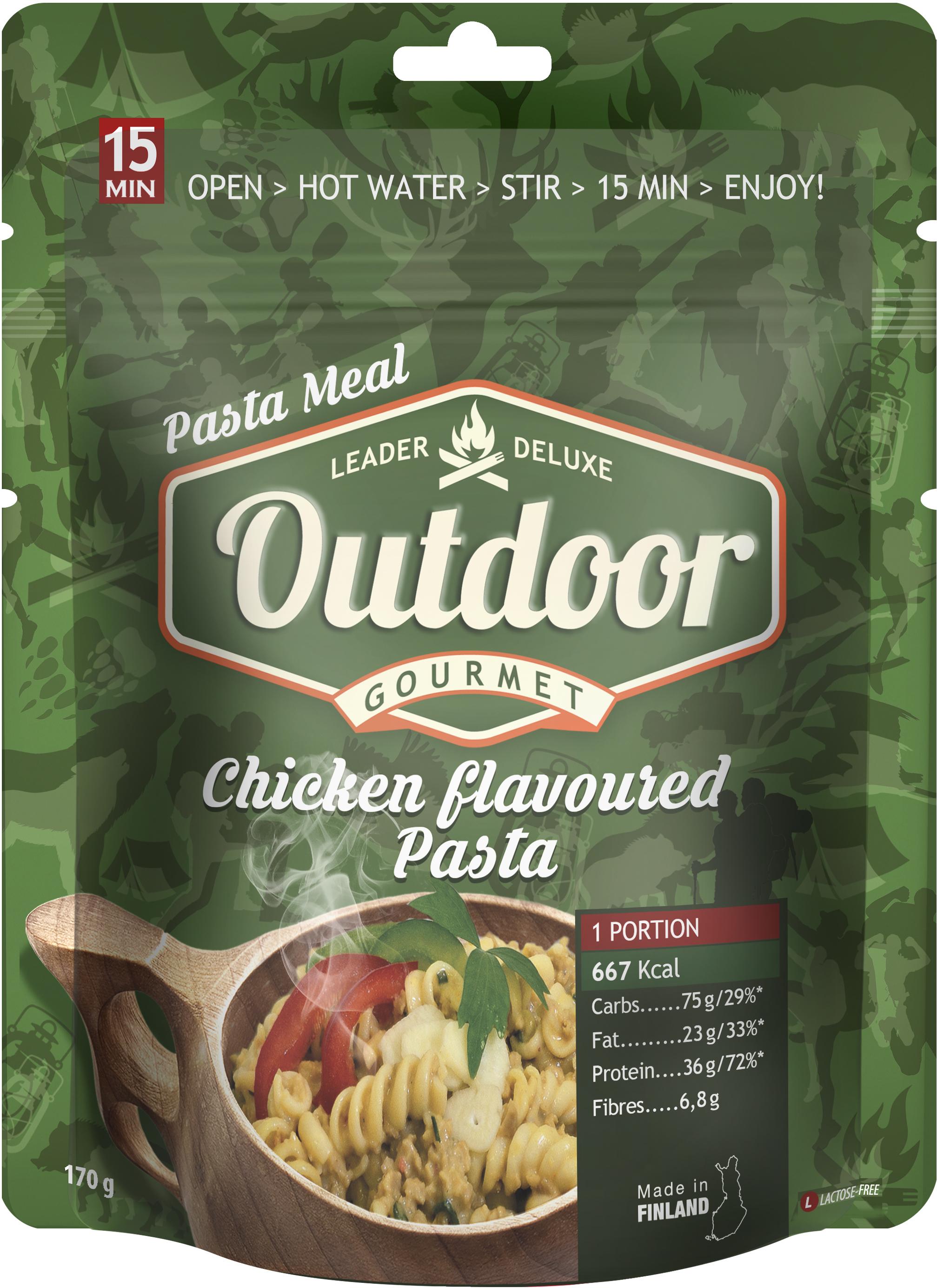 Leader Outdoor Chicken Flavored Pasta Retkiruoka 170 G